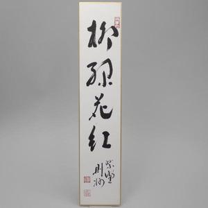 【茶器/茶道具 短冊】 直筆 柳緑花紅 秋吉則州筆