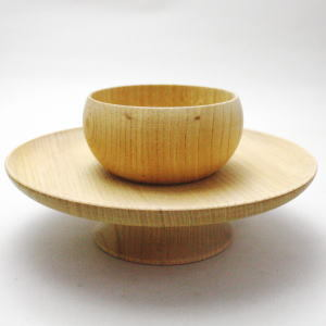 【茶道具・天目台】 貴人台 国産欅製(柾目)