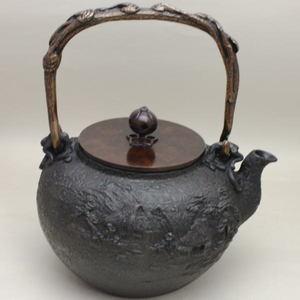 【茶器/茶道具 鉄瓶】 大 葛屋地紋 金森吉左作 1440~1620ml