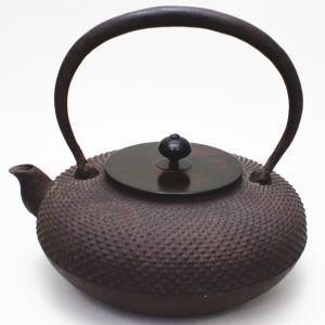 【茶器/茶道具 鉄瓶】 平丸 霰(あられ) 菊池正直作 900~1080ml