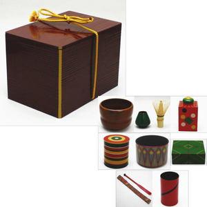 現品限り 【茶器/茶道具・茶箱・野立て】茶箱道具 趣味の茶箱セット 山下甫斎作