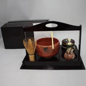 【茶道具セット 茶箱/野立籠/一服セット】 上 茶箱手付掻合6点セット