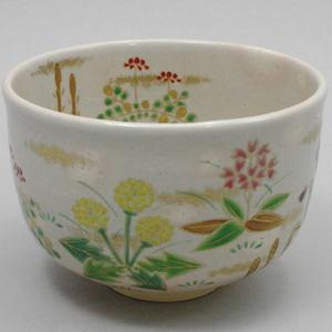 【茶器/茶道具 抹茶茶碗】 色絵茶碗 春草(春の野:タンポポの絵) 松本明日香作