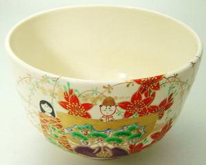 【茶器/茶道具 抹茶茶碗 ひな祭り】 立雛 南口閑粋作