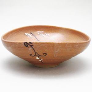 【茶器/茶道具 抹茶茶碗】 平茶碗 赤織部焼 加藤弥右衛門窯