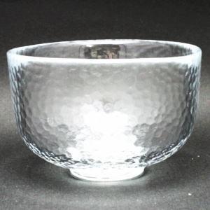 【茶器/茶道具 ガラス抹茶茶碗(硝子抹茶茶碗)】 ガラス(硝子)  楽型 かまくら