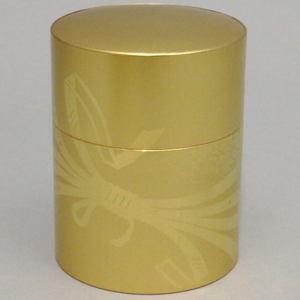 【茶筒】 薩摩彫金 結び 150g用 【smtb-KD】